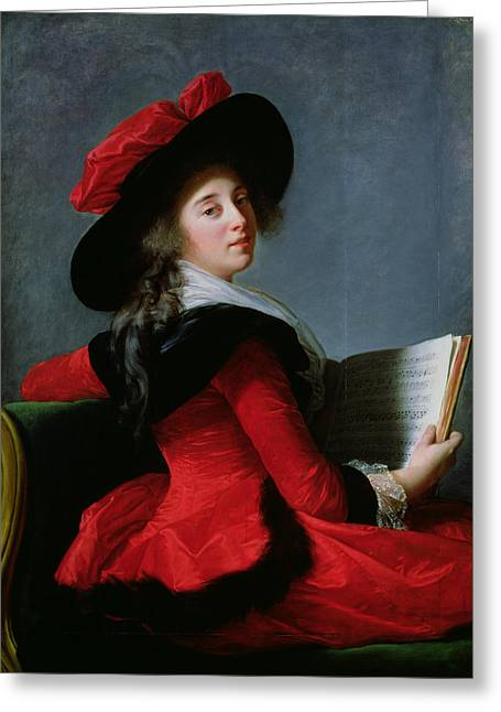 Fur Greeting Cards - La Baronne De Crussol, 1785 Oil On Canvas Greeting Card by Elisabeth Louise Vigee-Lebrun