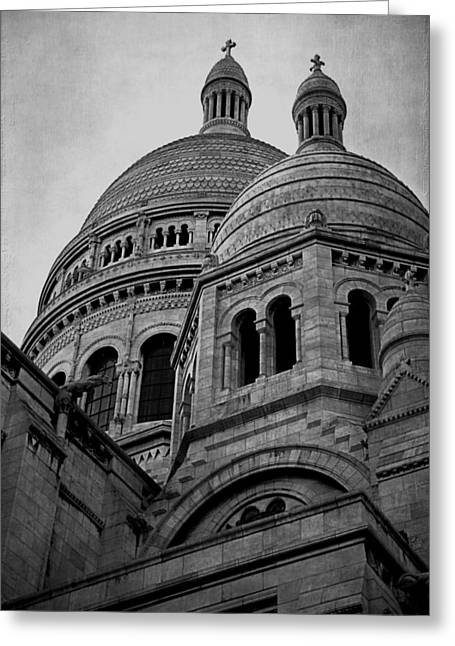 Sacred Digital Art Greeting Cards - La Basilique Du Sacre Coeur De Montmartre Greeting Card by Maria Angelica Maira