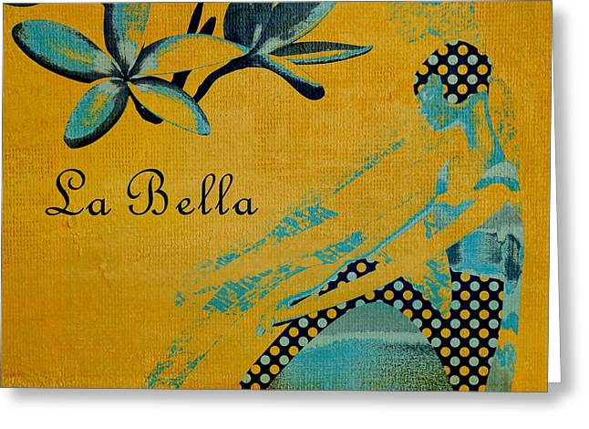 Square Format Greeting Cards - La Bella - 01t04yb Greeting Card by Variance Collections