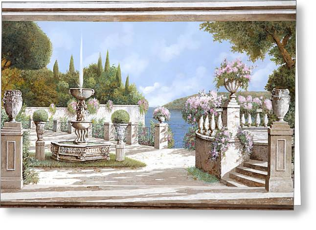 Fountain Greeting Cards - La Bella Fontana Greeting Card by Guido Borelli