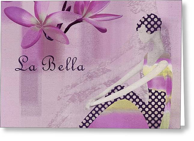 Square Format Greeting Cards - La Bella  - Purple - j104a Greeting Card by Variance Collections