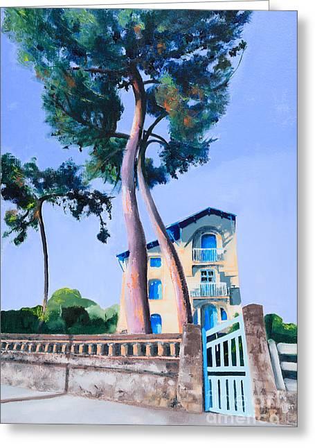Belle Epoch Greeting Cards - La Belle Epoch St Palais Sur Mer Greeting Card by Beryl Noyce