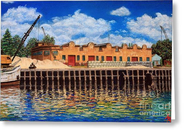 Daylight Pastels Greeting Cards - La Boca 01 Greeting Card by Bernardo Galmarini