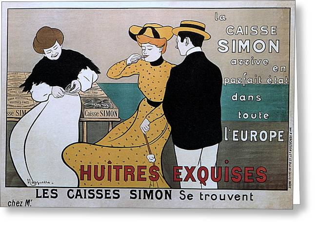 Belle Epoque Mixed Media Greeting Cards - La Caisse Simon Greeting Card by Charles Ross
