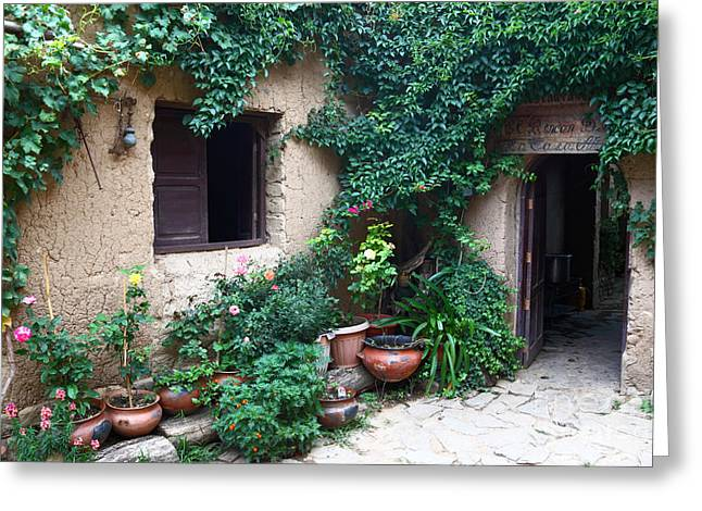 Green Foliage Greeting Cards - La Casa Vieja 2 Greeting Card by James Brunker