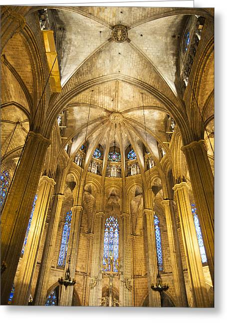 Catalunya Photographs Greeting Cards - La Catedral Barcelona Cathedral Greeting Card by Matthias Hauser
