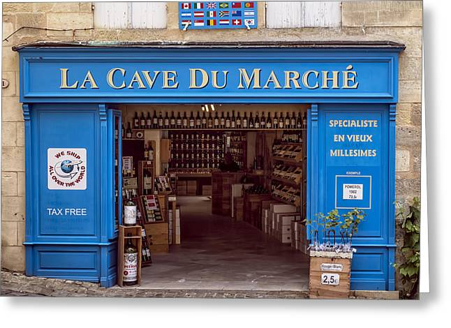 Cellar Greeting Cards - La Cave du Marche Greeting Card by Nomad Art And  Design