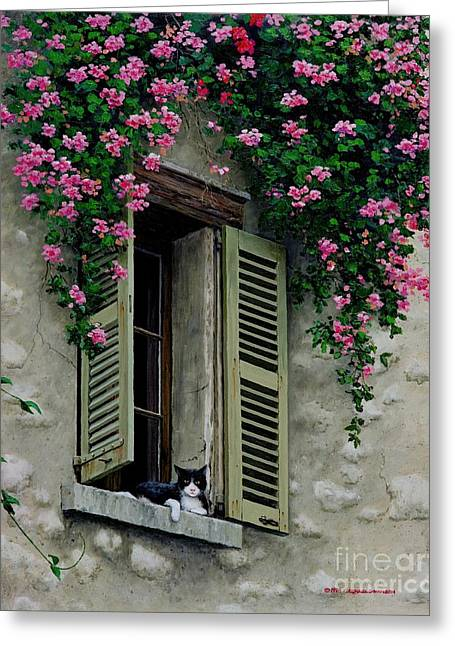French Open Paintings Greeting Cards - La Chad Greeting Card by Michael Swanson