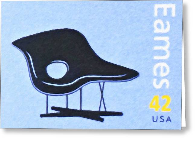 Chaise Paintings Greeting Cards - La Chaise Greeting Card by Lanjee Chee