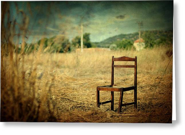 Depth Of Field Greeting Cards - La chaise Greeting Card by Taylan Soyturk