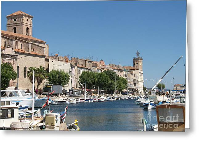 Habor Greeting Cards - La Ciotat Harbor Greeting Card by Christiane Schulze Art And Photography
