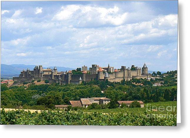 Languedoc Greeting Cards - La Cite de Carcassonne Greeting Card by France  Art