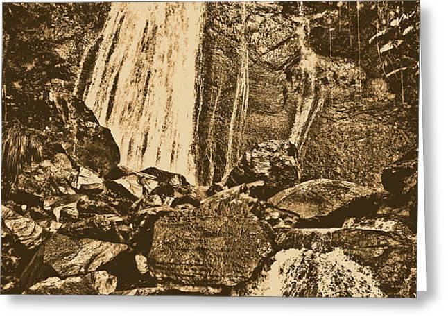 La Coca Falls El Yunque National Rainforest Puerto Rico Prints Rustic Greeting Card by Shawn O'Brien