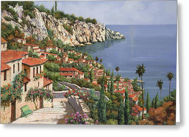 Roof Greeting Cards - La Costa Greeting Card by Guido Borelli