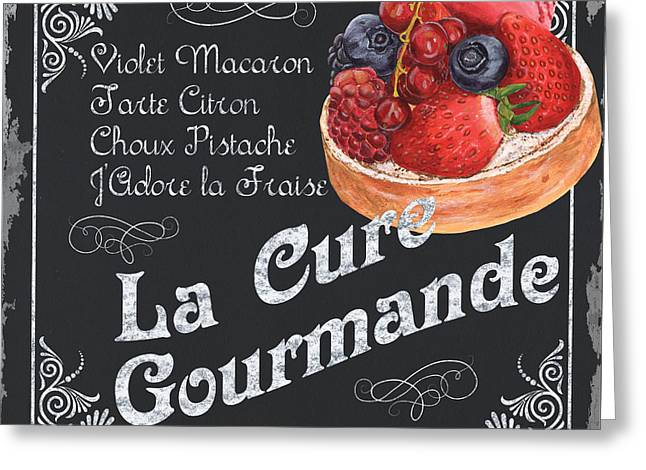 Snacking Greeting Cards - La Cure Gourmande Greeting Card by Debbie DeWitt