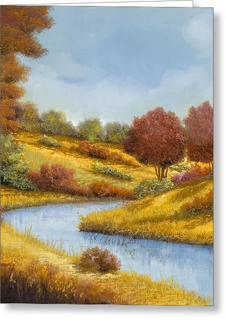 River Country Greeting Cards - La Curva Del Fiume Greeting Card by Guido Borelli