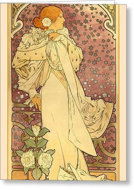 Antique Digital Greeting Cards - La Dame Greeting Card by Gary Grayson