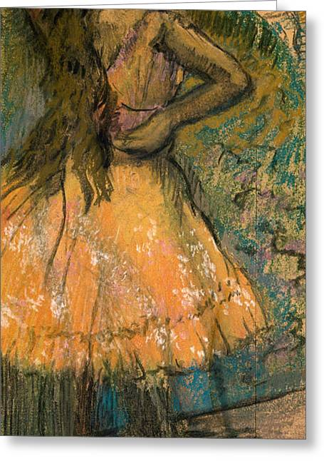 Ballet Dancers Greeting Cards - La Danseuse Greeting Card by Edgar Degas