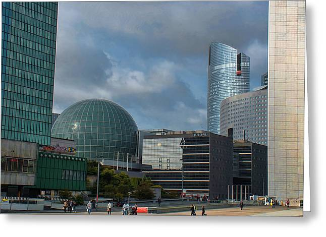 Greeting Cards - La Defense architecture Greeting Card by Paris  France