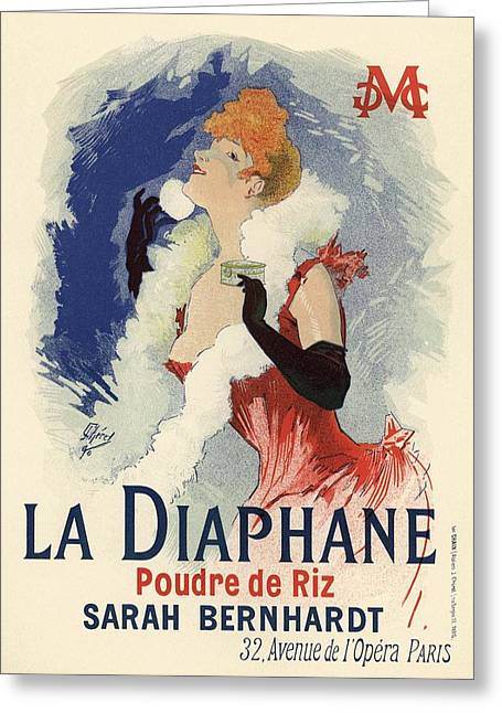 Sarah Greeting Cards - La Diaphane Greeting Card by Gianfranco Weiss