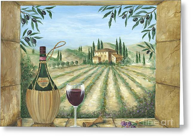 Glass Of Wine Greeting Cards - La Dolce Vita Greeting Card by Marilyn Dunlap
