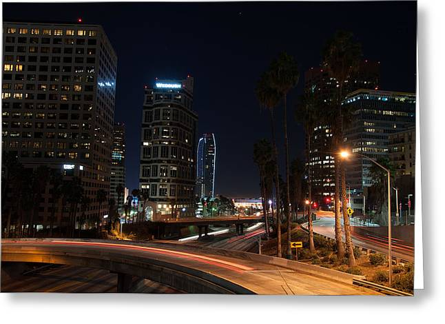 Gandz Photography Greeting Cards - LA Down Town 2 Greeting Card by Gandz Photography
