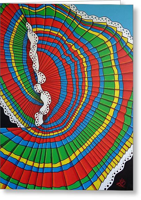 La Falda Girando - The Spinning Skirt Greeting Card by Katherine Young-Beck