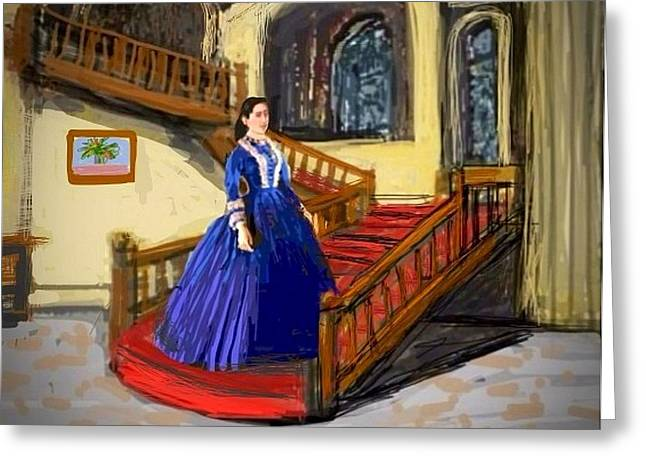 Up And Coming Greeting Cards - La fille robe Greeting Card by Larry E  Lamb