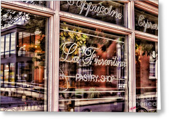 Pastries Greeting Cards - La Fiorentina Pastry Shop Greeting Card by HD Connelly