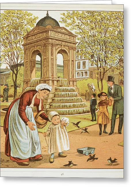 La Fontaine Des Innocents Greeting Card by British Library
