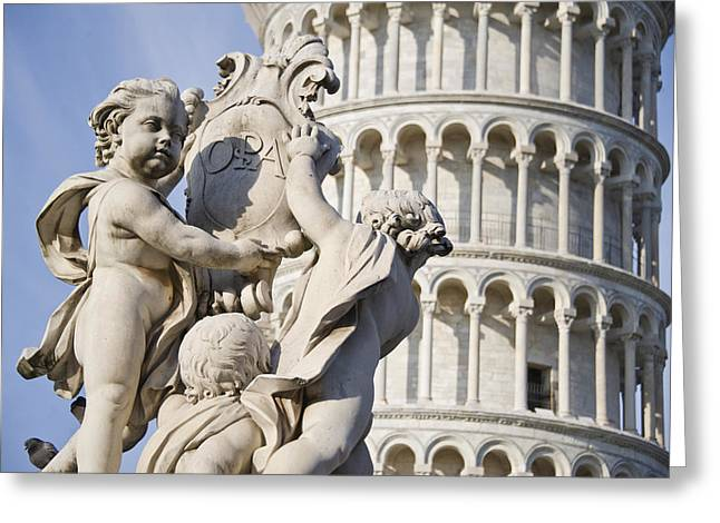 Fontana Greeting Cards - La Fontana Dei Putti In Front Greeting Card by Panoramic Images