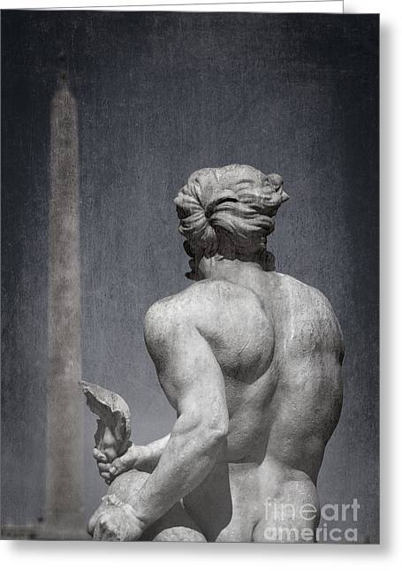 Fontana Greeting Cards - La Fontana del Moro - Rome Greeting Card by Rod McLean