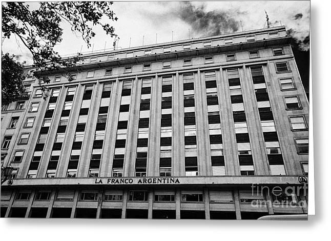 Franco Greeting Cards - la franco argentina building Buenos Aires Argentina Greeting Card by Joe Fox