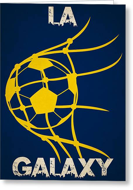 Keeper Greeting Cards - La Galaxy Goal Greeting Card by Joe Hamilton