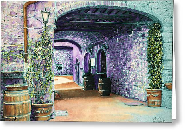 Chianti Greeting Cards - La Galleria Greeting Card by Domenic Piluso