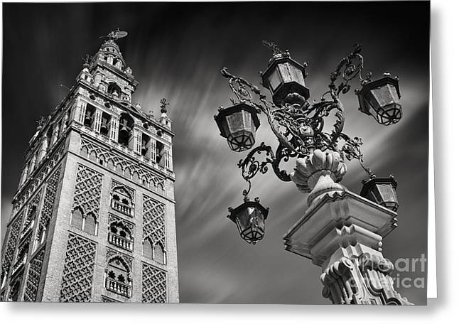 Santa Cruz Greeting Cards - La Giralda Greeting Card by Rod McLean
