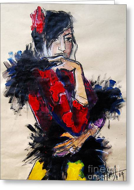 La Gitane - Pia #1 - Figure Series Greeting Card by Mona Edulesco