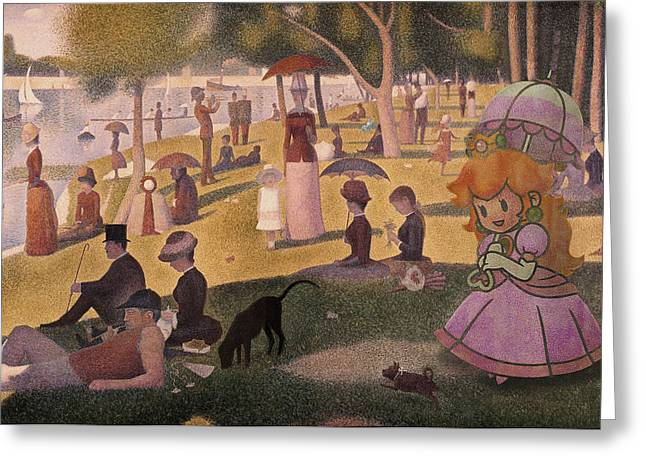 Seurat Greeting Cards - La Grande Peche Greeting Card by Guillaume Colomb
