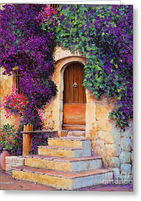 France Doors Greeting Cards - La Grange Greeting Card by Michael Swanson