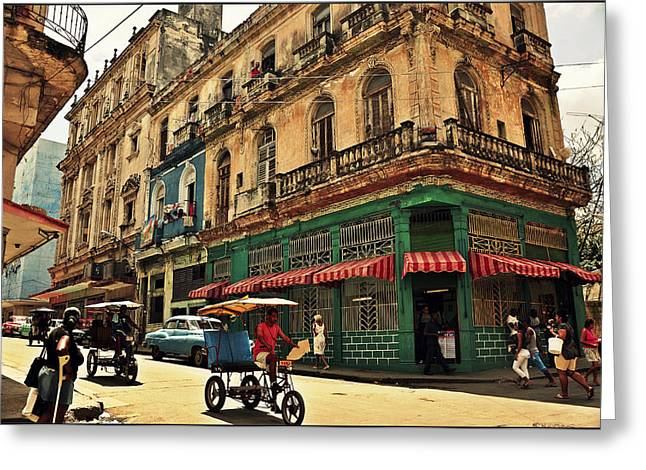 La Habana Vieja Greeting Card by Maria Godawa