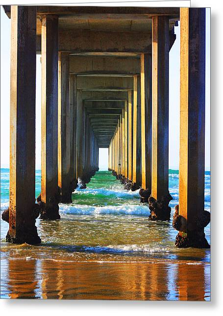 Recently Sold -  - ist Photographs Greeting Cards - La Jolla California Pier Greeting Card by Christine Krainock