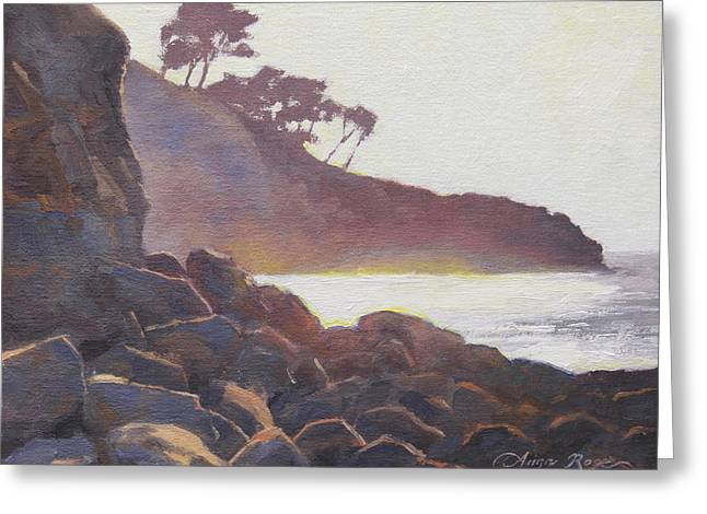Glare Greeting Cards - La Jolla Light Greeting Card by Anna Bain