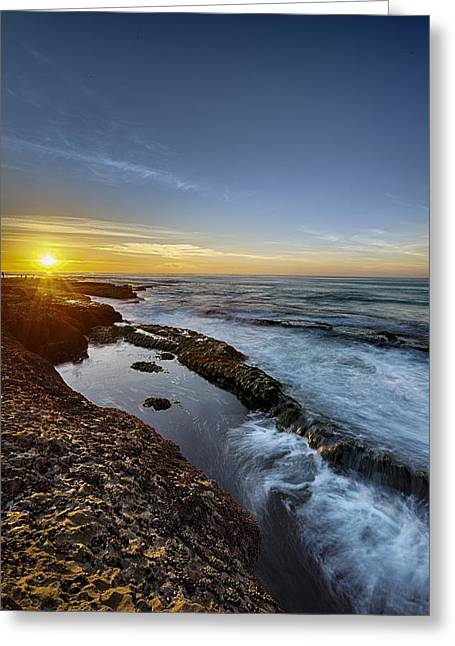 Motion Greeting Cards - La Jolla New Year King Tide 2 Greeting Card by Scott Campbell