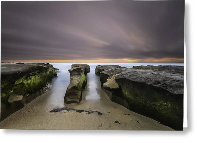 California Ocean Photography Greeting Cards - La Jolla Reef Greeting Card by Larry Marshall