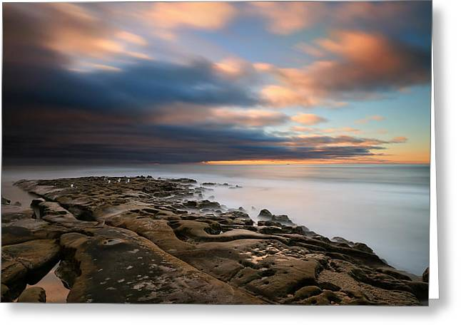 California Art Greeting Cards - La Jolla Reef Sunset 10 Greeting Card by Larry Marshall