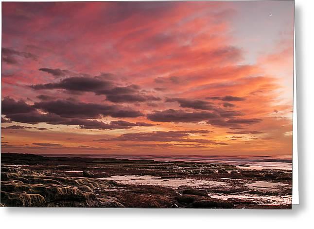 California Ocean Photography Greeting Cards - La Jolla Sunset 1 Greeting Card by Lee Kirchhevel