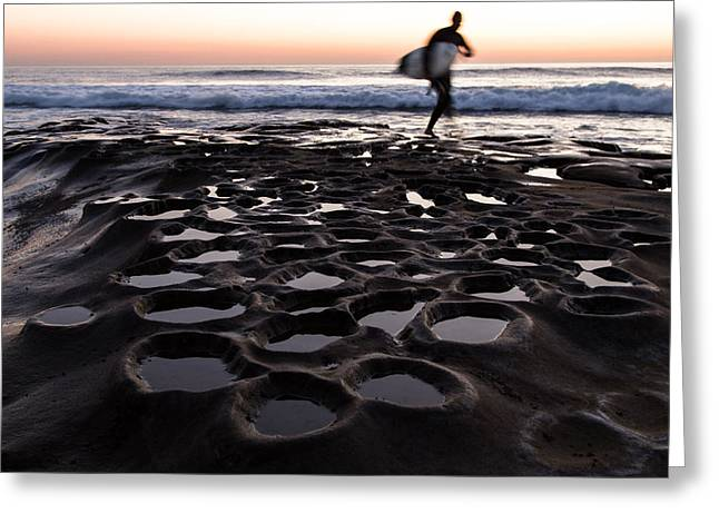 Tidal Photographs Greeting Cards - La Jolla Surf Session Part 2 Greeting Card by John Daly