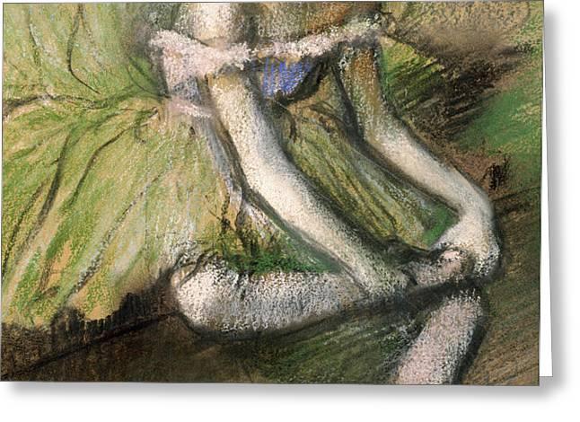 La Jupe Verte Greeting Card by Edgar Degas