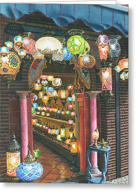 Greeting Cards For Sale Greeting Cards - La Lampareria Albacin Granada Greeting Card by Richard Harpum