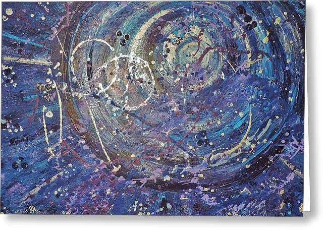 Collaborative Greeting Cards - La Luna Greeting Card by Margaret Bobb